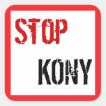 Pare al pegatina cuadrado de Kony