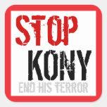 Pare al pegatina cuadrado de Kony - #2 grande