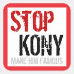 Pare al pegatina cuadrado de Kony - grande