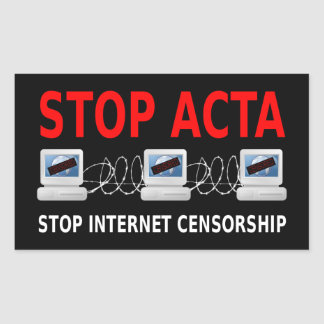 PARE al pegatina de la censura del Internet del