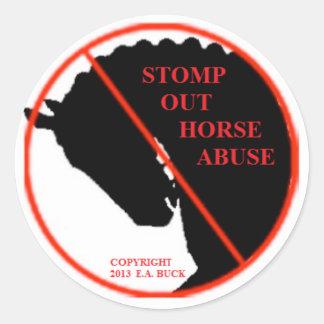 Pare al pegatina del abuso del caballo