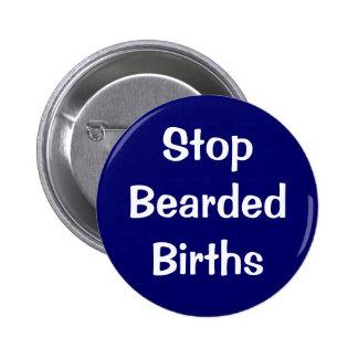 """""""Pare botón de los nacimientos barbudos"""" Pins"""