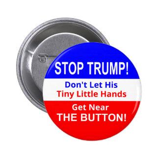 Pare botón minúsculo de las manos del triunfo el pin redondo de 2 pulgadas