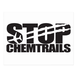 Pare Chemtrails Tarjetas Postales