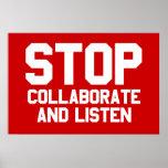pare colaboran y escuchan poster