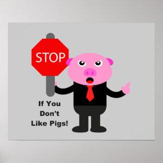 Pare como el poster de los cerdos