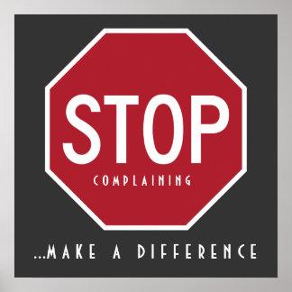 PARE Complaining_Make un poster de la diferencia
