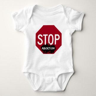 Pare el aborto - enredadera infantil body para bebé