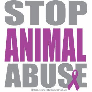 Pare el abuso animal escultura fotográfica