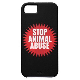 Pare el abuso animal funda para iPhone SE/5/5s