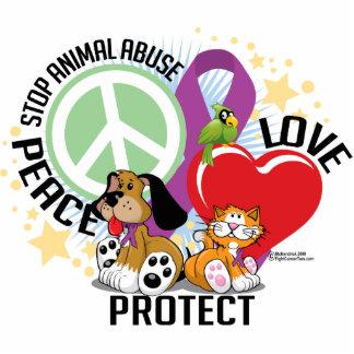 Pare el abuso animal PLP Fotoescultura Vertical