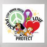 Pare el abuso animal PLP Poster