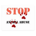 pare el abuso animal postales