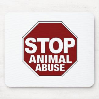 Pare el abuso animal tapete de ratón