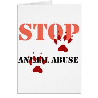 pare el abuso animal felicitación