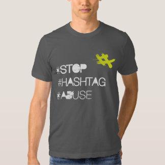 Pare el abuso de Hashtag Playera