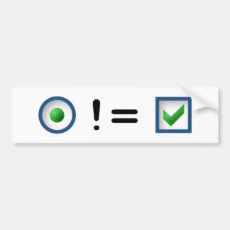 Pare el abuso del botón de radio (simplificado) etiqueta de parachoque