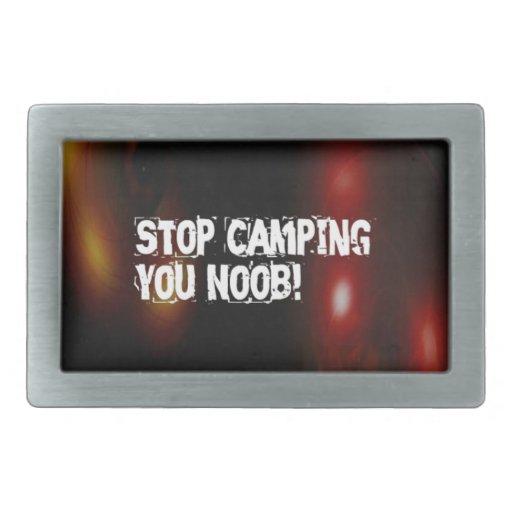 Pare el acampar usted Noob Hebilla Cinturón Rectangular