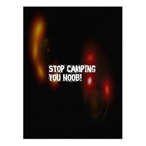 Pare el acampar usted Noob Tarjeta Postal