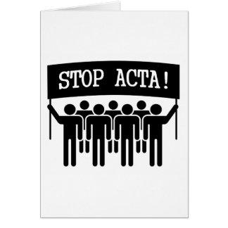 Pare el ACTA Tarjeta De Felicitación