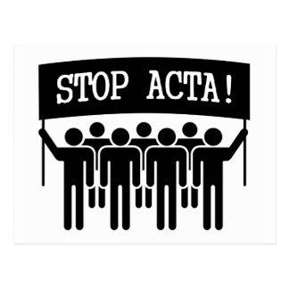 Pare el ACTA Tarjeta Postal