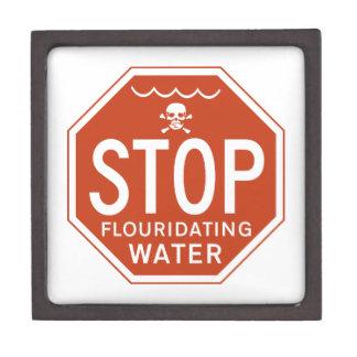 PARE EL AGUA de FLUORIDATING - fluoruro/activismo/ Cajas De Recuerdo De Calidad