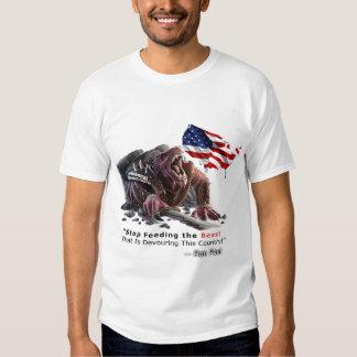 Pare el alimentar de la camiseta de la bestia poleras