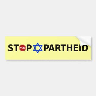 Pare el apartheid pegatina para auto