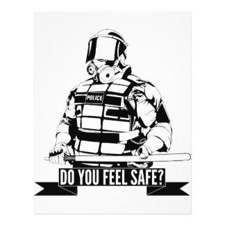 Pare el arte de la brutalidad policial para ocupan flyer personalizado