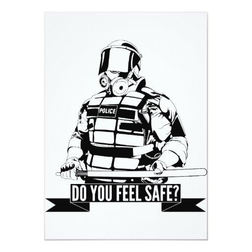 Pare el arte de la brutalidad policial para ocupan invitación 12,7 x 17,8 cm