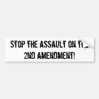 pare el asalto en la 2da enmienda pegatina para auto