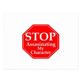 Pare el asesinato de carácter postales