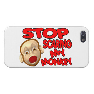 Pare el asustar de mi mono iPhone 5 funda