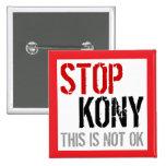 Pare el botón cuadrado 3 de Kony Pins