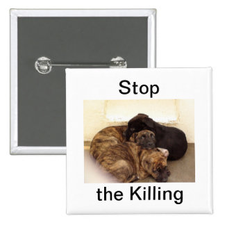 Pare el botón de la ayuda de la matanza pin cuadrado