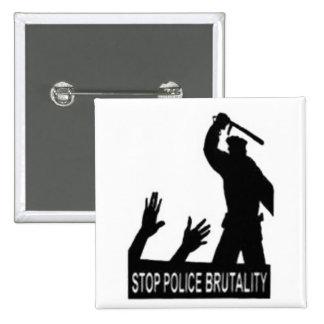 pare el botón de la brutalidad policial pin cuadrado