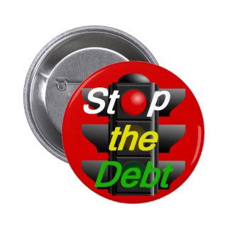 PARE el botón de la deuda Pin