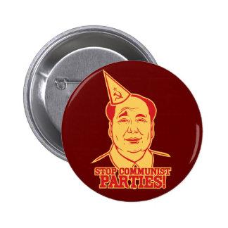 Pare el botón de los Partidos Comunistas Pin Redondo De 2 Pulgadas