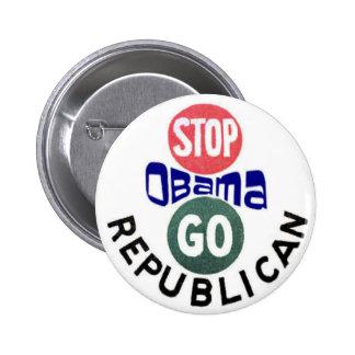 Pare el botón de Obama 2012 Pin Redondo De 2 Pulgadas
