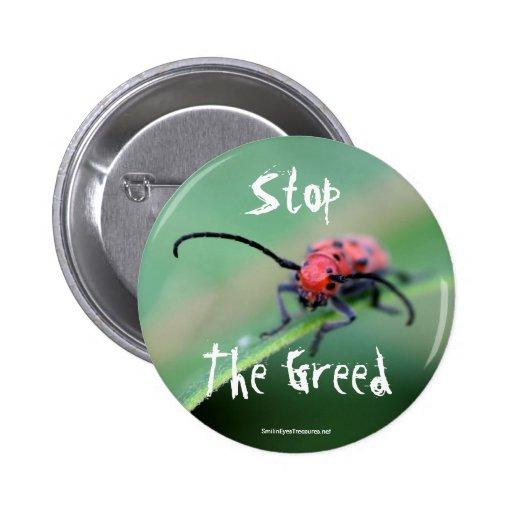 Pare el botón enojado de la foto de la naturaleza  pin redondo de 2 pulgadas