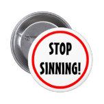 """""""Pare"""" el botón Sinning Pin"""