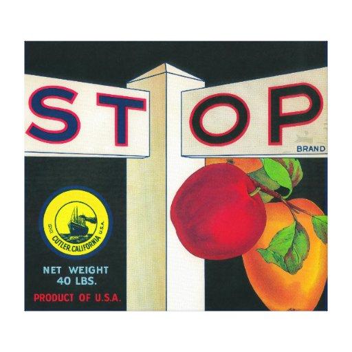 Pare el cajón LabelCutler, CA de Apple Lona Envuelta Para Galerias