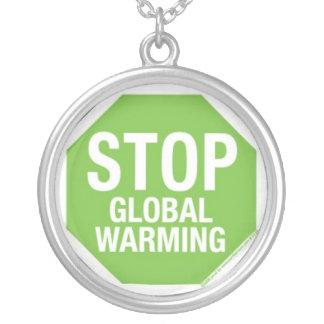 PARE el calentamiento del planeta Colgante Redondo