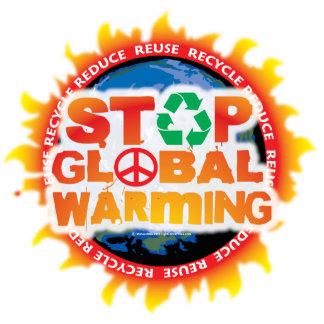 Pare el calentamiento del planeta esculturas fotograficas
