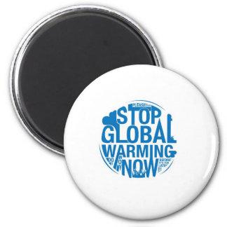 Pare el calentamiento del planeta imán redondo 5 cm