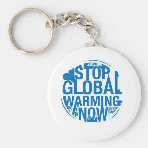 Pare el calentamiento del planeta llavero