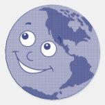 Pare el calentamiento del planeta pegatina redonda