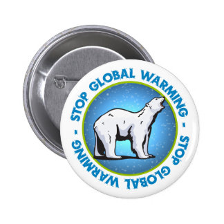 Pare el calentamiento del planeta pin redondo 5 cm