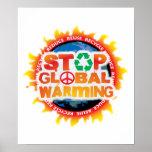 Pare el calentamiento del planeta posters