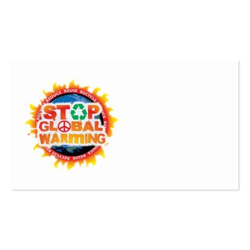 Pare el calentamiento del planeta tarjetas de visita
